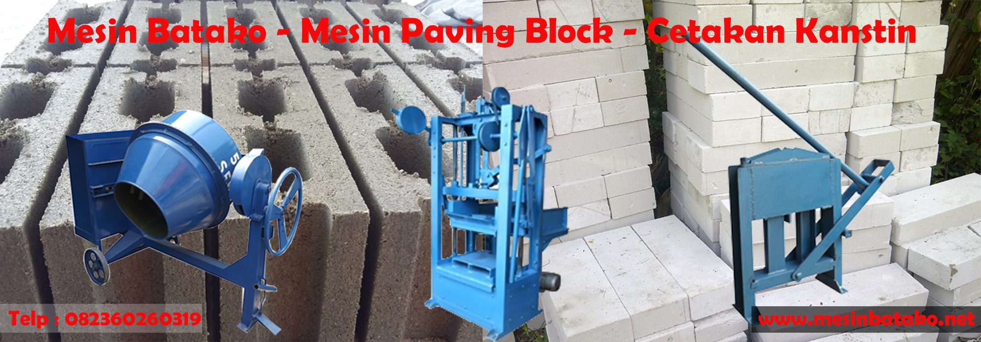 Mesin Press Batako | Mesin Paving Block | Cetakan Kanstin